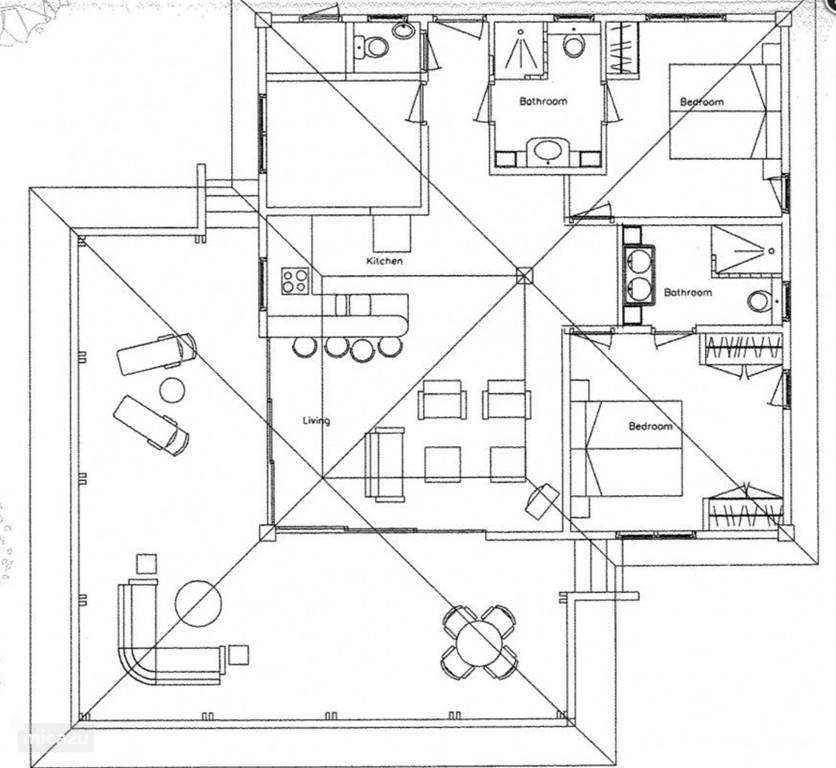Floor Plan for Villa Kas Abou