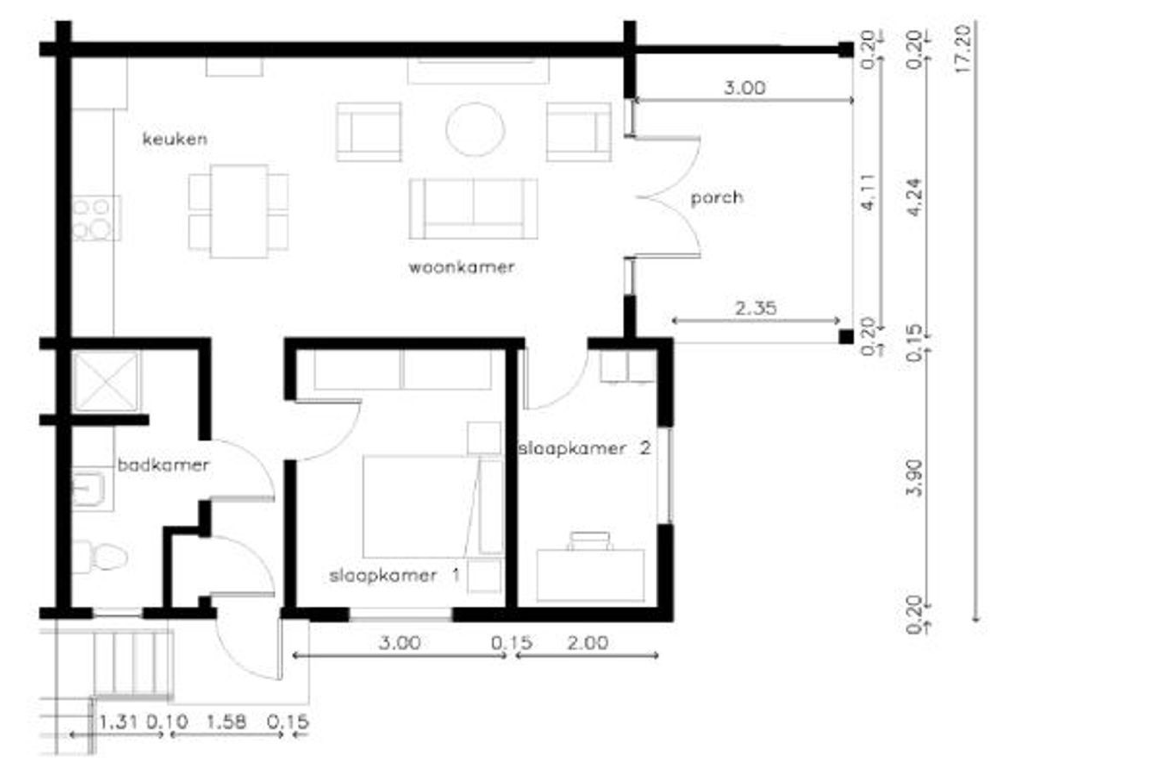 Floor Plan for Bunita di Kas is our apartment at Blije Rust 2