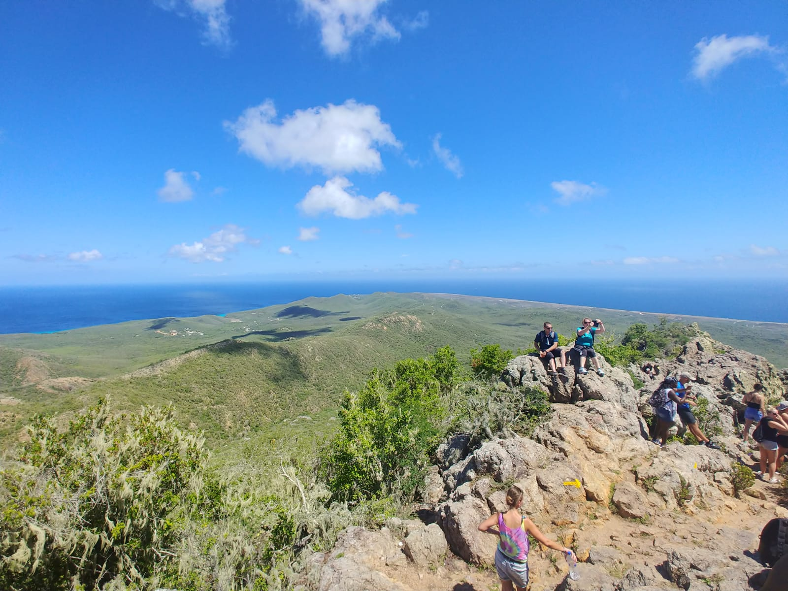Reaching the top or Mount Christoffel